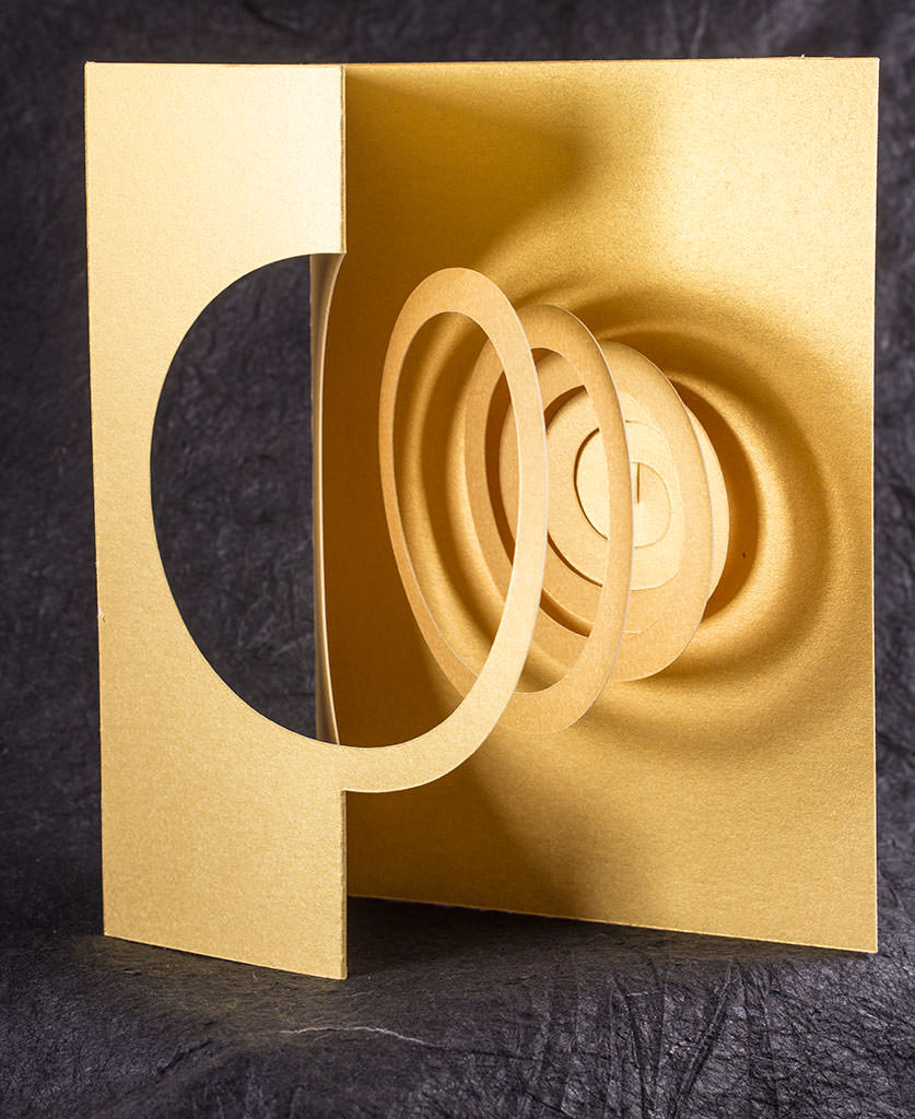 Golden Spiral Pop Up Card