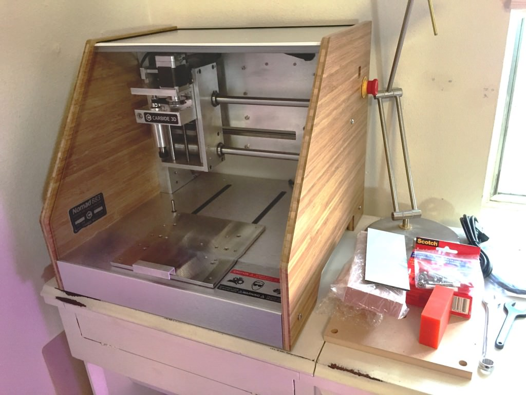 Carbide3D Nomad 883 Desktop CNC machine in the Evermore Stud.io