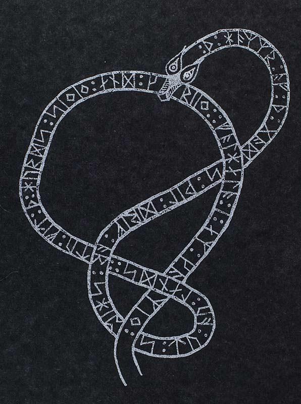 Rune Snake Gocco Print