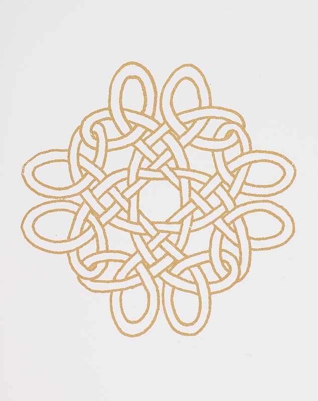 Four Corners Knot Gocco Print