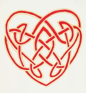 Knotwork Heart 2-color Screenprint