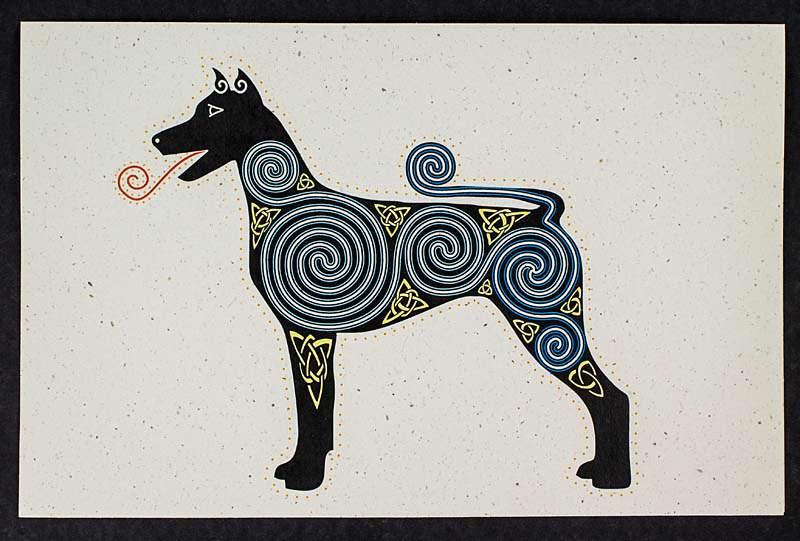 Cosmic Dog Print
