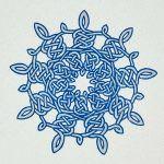 Snowflake 2-Color Gocco Print