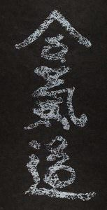Aikido Webbed Kanji Screenprint (Silver on Black)