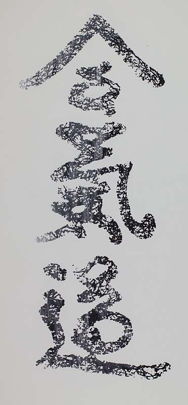 Aikido Webbed Kanji Screenprint (Blended Colors)