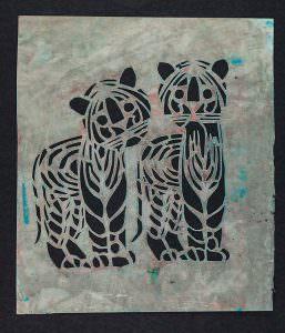 Paper Tigers Hand-Cut Stencil