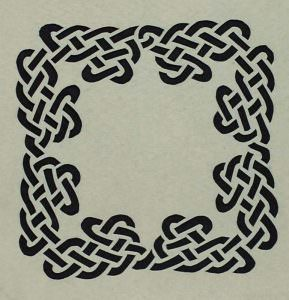 Hand-Cut Celtic Knotwork Stencil