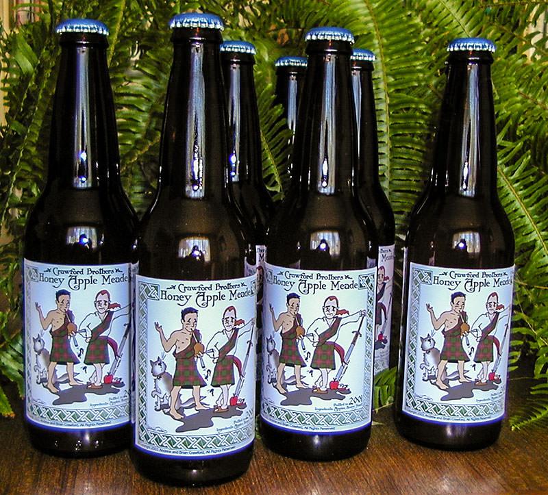 Crawford Brothers Honey Apple Meade Label Bottles
