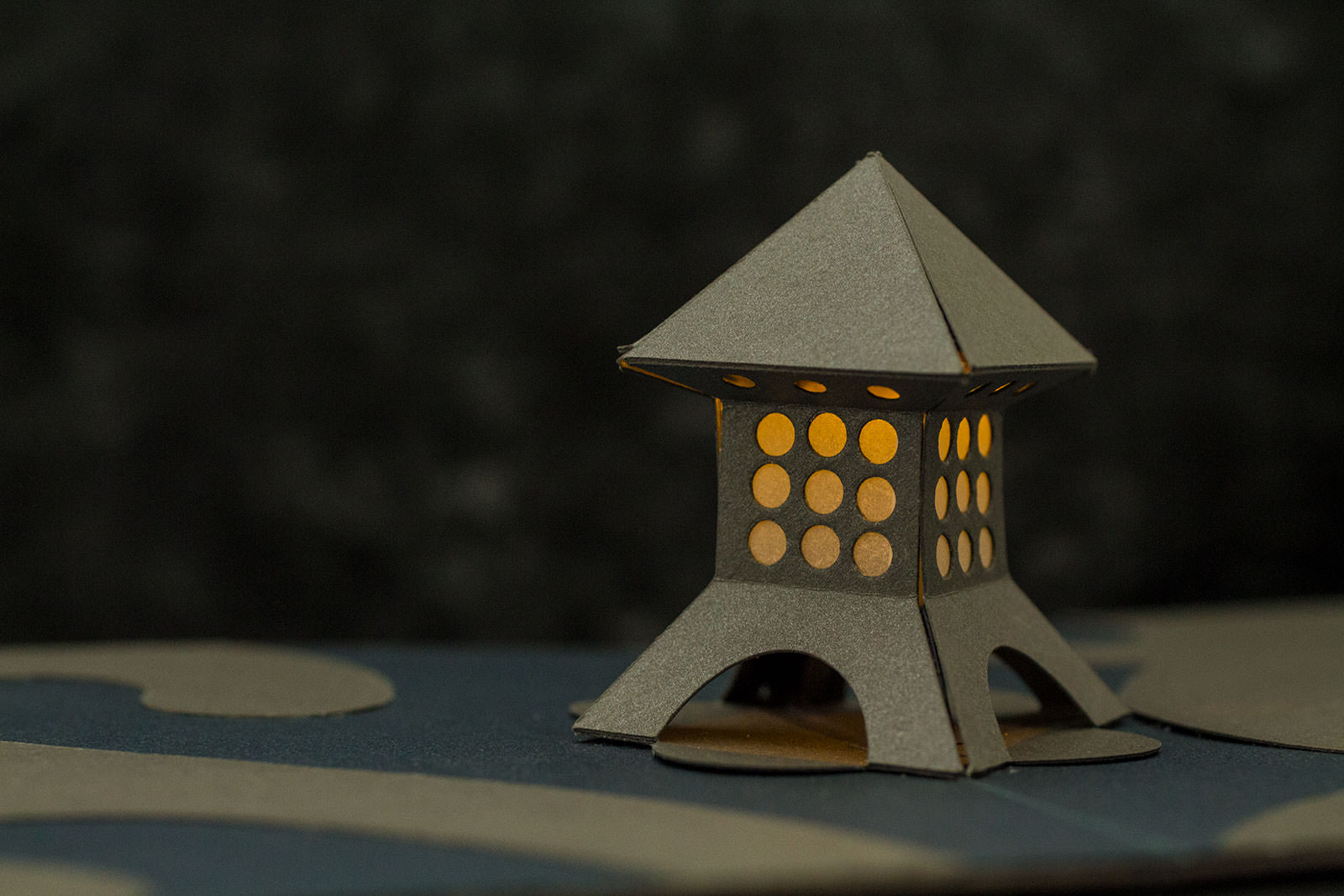 Garden Lantern Origamic Architecture / Kirigami with integrated electronics