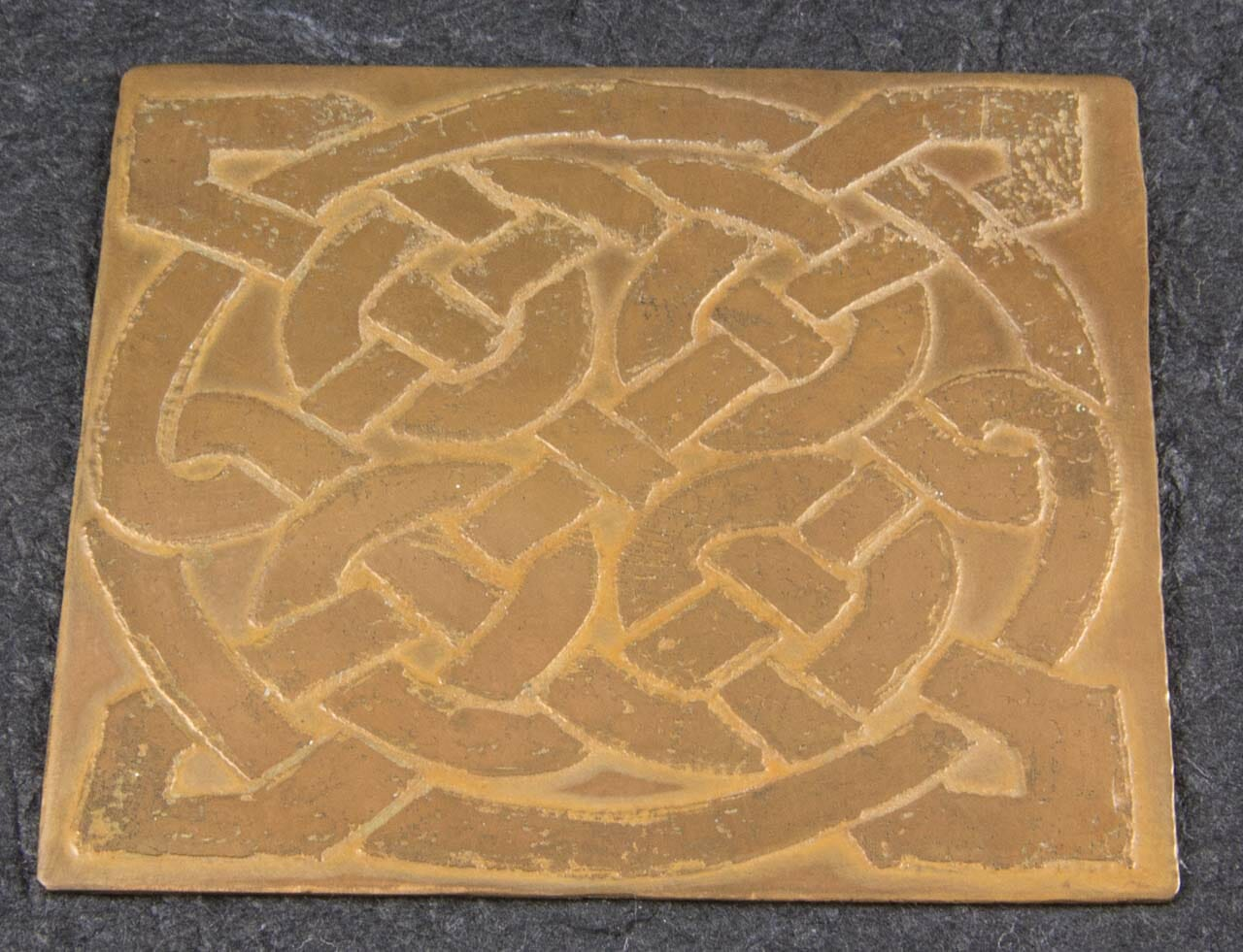 Etched Copper Celtic Knot Rubbing Plate