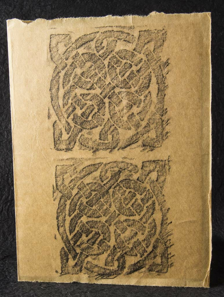 Celtic Knot Rubbing Card