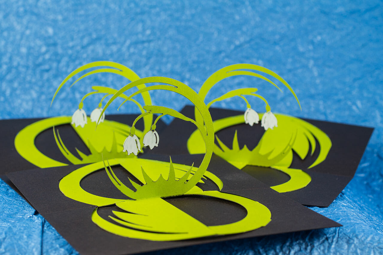 Spring Belles Twisted Crest Origamic Architecture Pop Up Card
