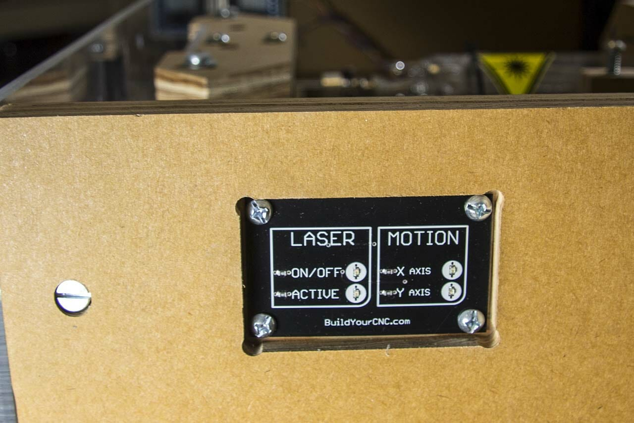 Blacktooth Laser Cutter Operation Panel