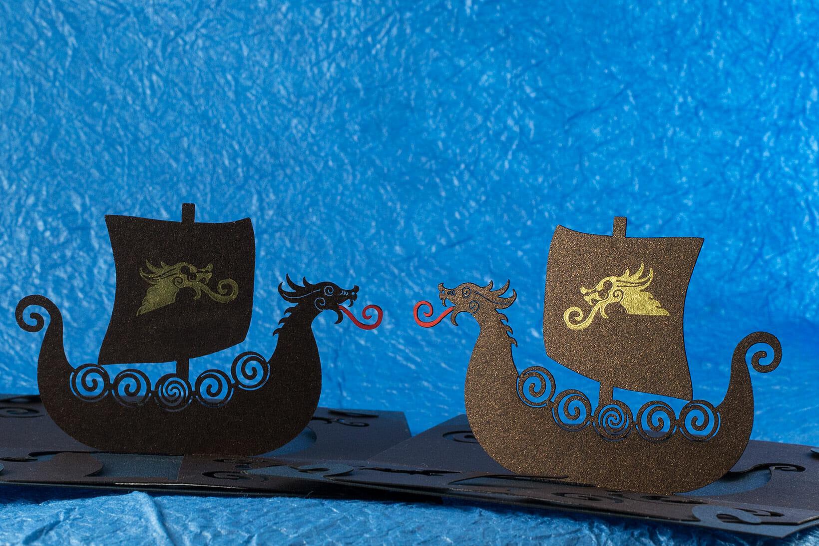 Viking Longship Origamic Architecture Pop Up Card
