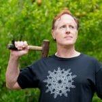 Silver Snowflake Celtic Knotwork Unisex T-Shirt