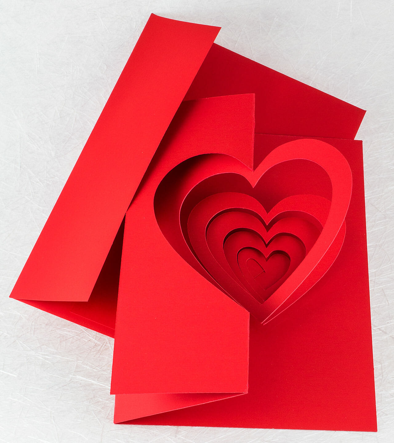 Helical Heart Pop Up Card by Andrew Crawford
