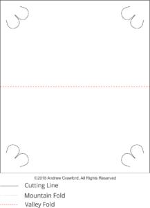 Flower Crest OA Backing Card Pattern