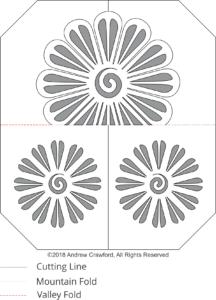 Flower Crest OA Card Pattern