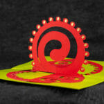 Twisted-Crest Celtic Spiral Pop Up Card