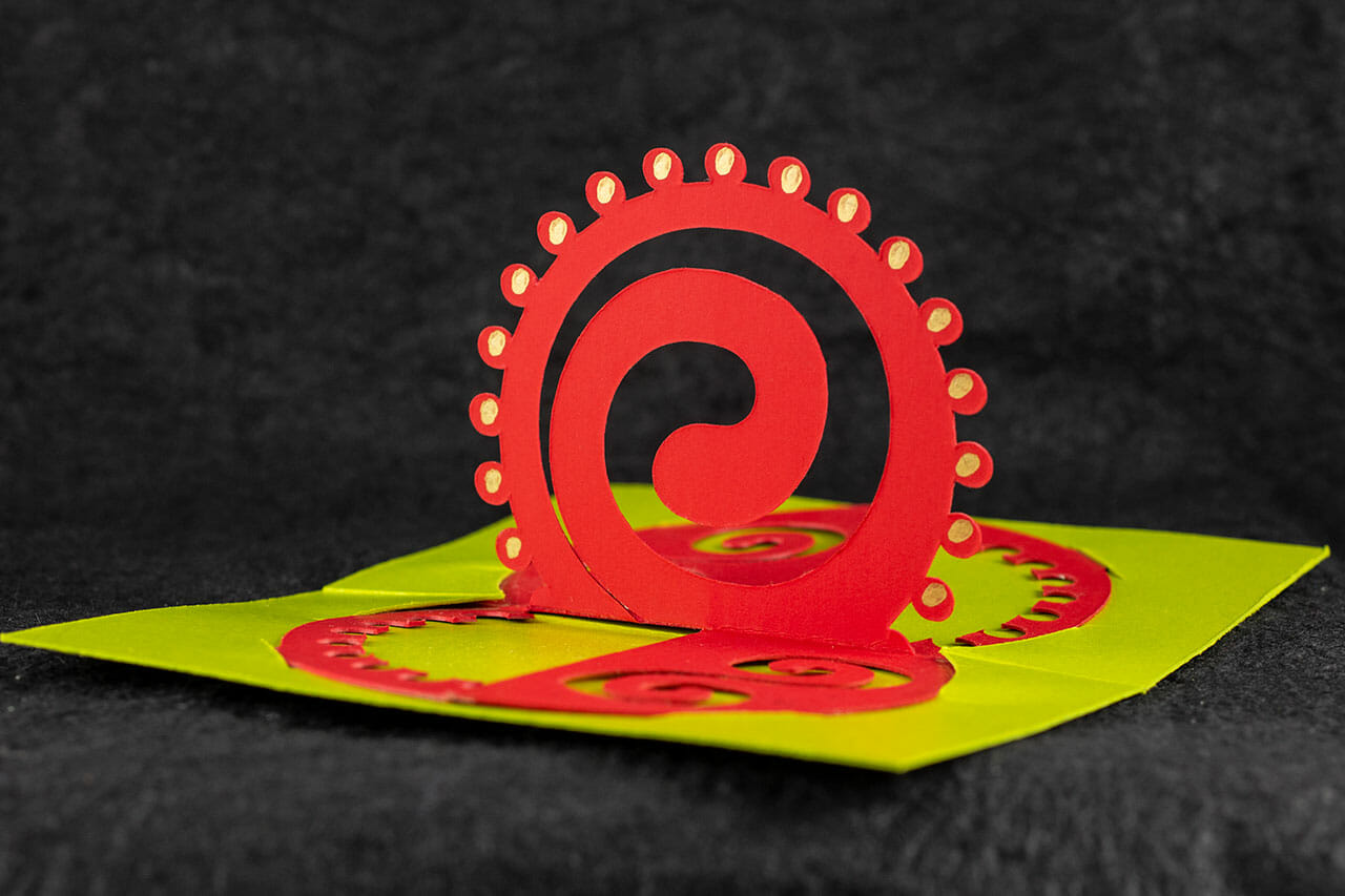 Twisted-Crest Celtic Spiral Pop Up Card