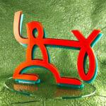 Fishhugger Acrylic Stand-Up Logo
