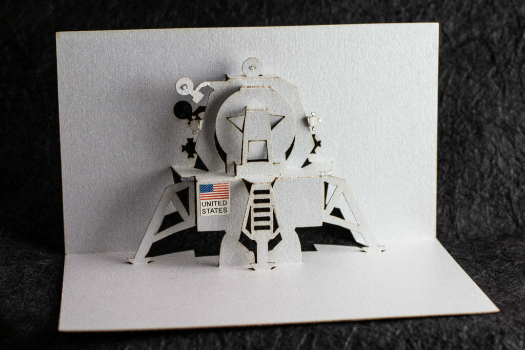Lunar Lander Origamic Architecture / Kirigami Pop Up Card