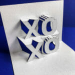 XOXO 2019 Origamic Architecture / Kirigami Pop Up Card