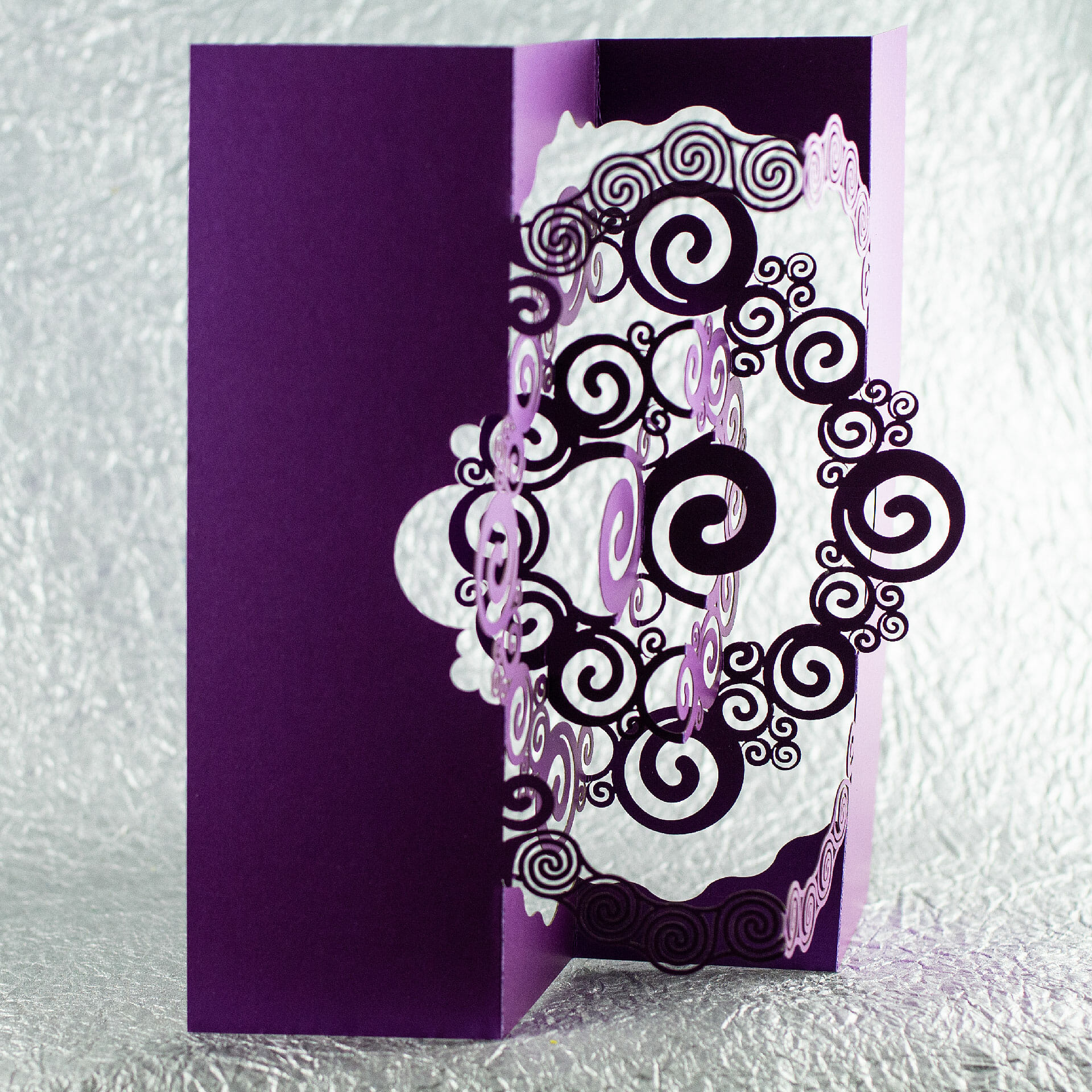 Spiraling (2018 Holiday OA/Kirigami Pop Up Card)