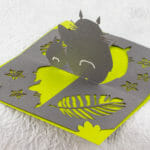 Totoro Twisted-Crest OA/Kirigami Pop Up Card (Back)