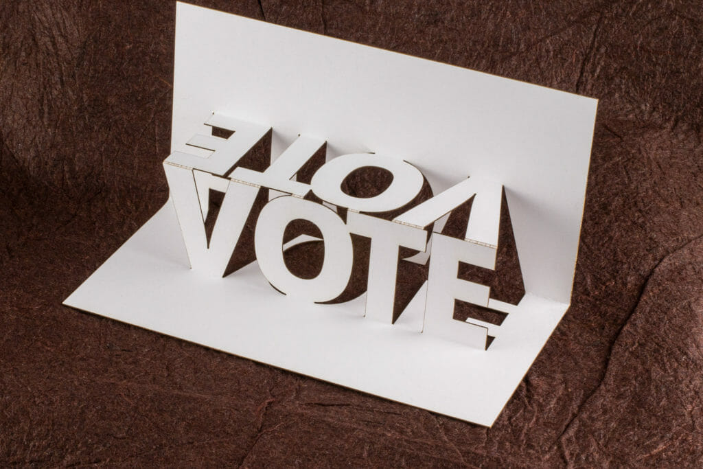 Pop the Vote pop up card