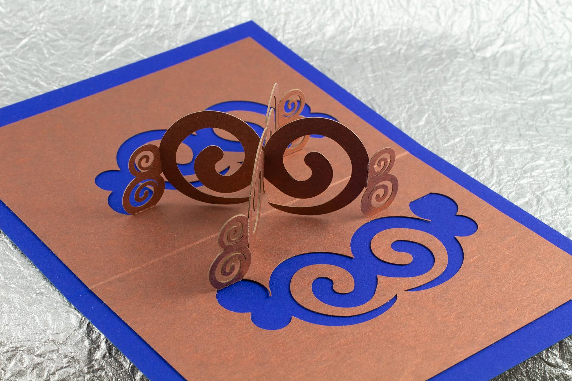 180° Degree Spirals Pop Up Card