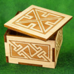 Small Inlaid Celtic Key Pattern Box