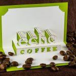 Echo Coffee Logo Origamic Architecture / Kirigami Pop Up Card