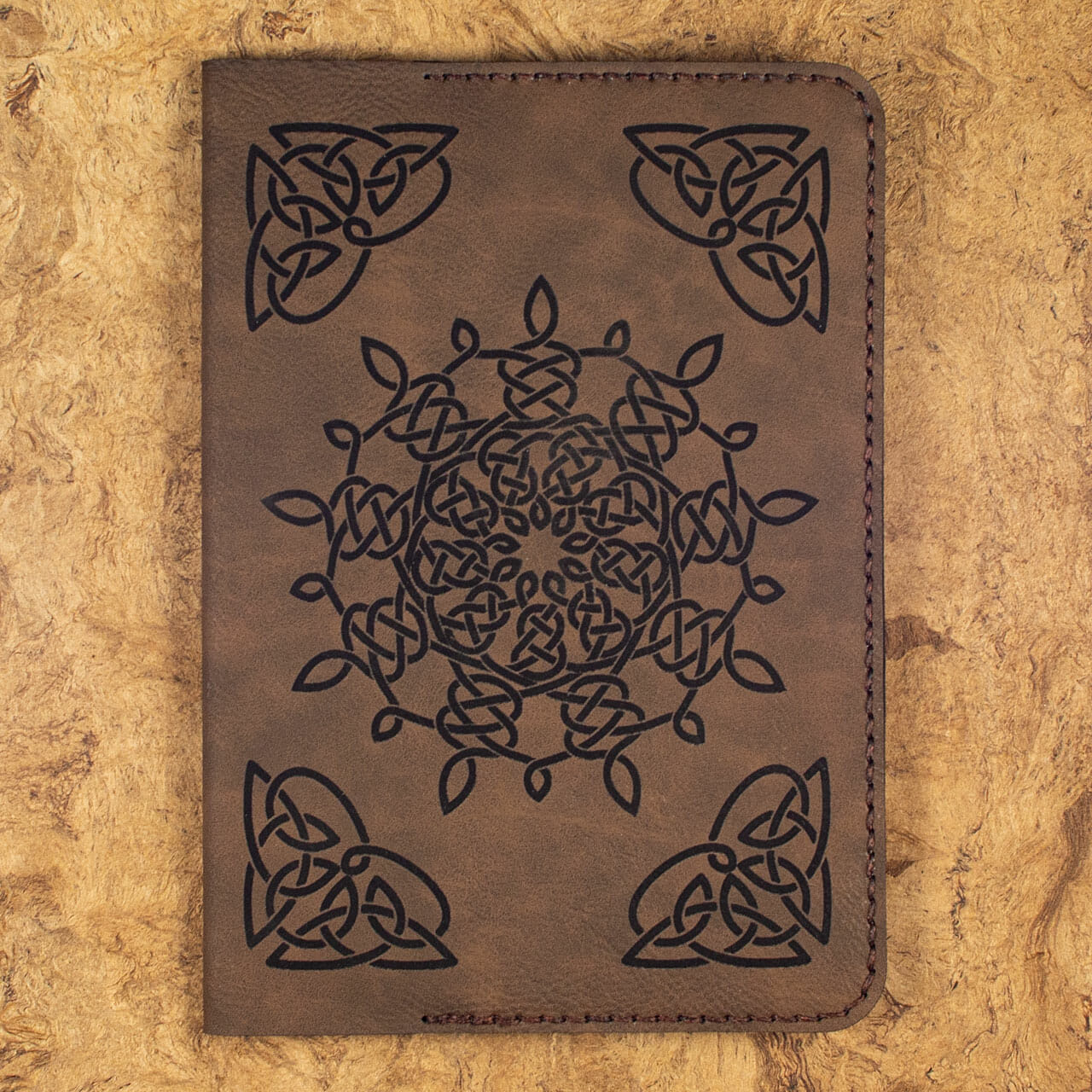 Celtic Snowflake Journals (Dark Brown)