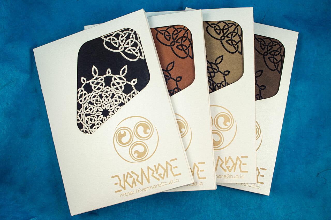Celtic Snowflake Journals in Packaging