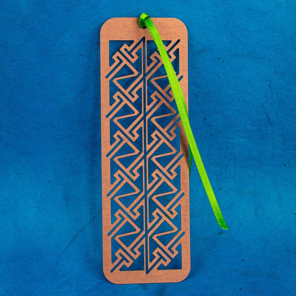 Celtic Key Pattern Kirigami Bookmark