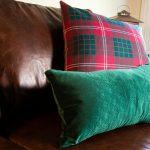 Celtic Key Pattern Embossed Velvet Pillow