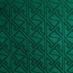 Celtic Key Pattern Embossed Velvet