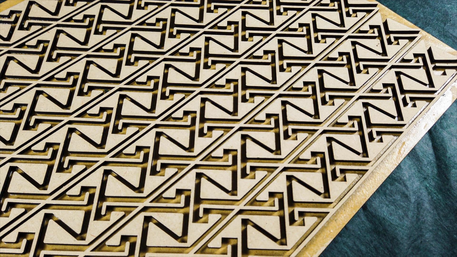 Celtic Key Pattern Velvet Embossing Form