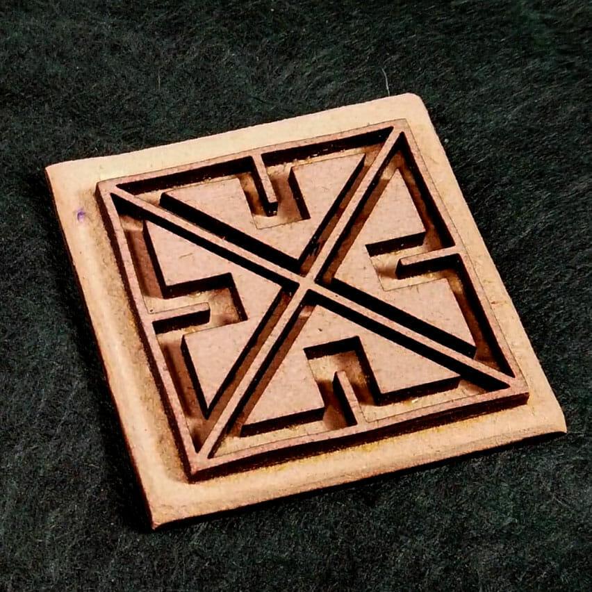 Celtic Key Square Velvet Embossing Stamp