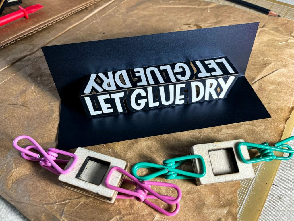 Let Glue Dry Pop Up Card (Laura Kampf Edition)