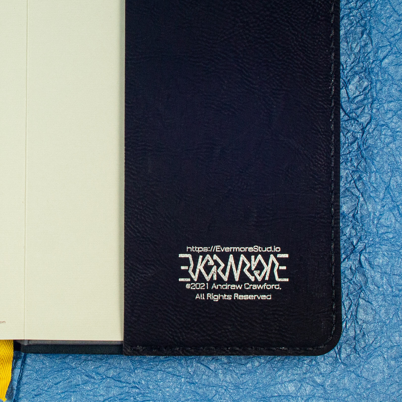 Notebook Cover Engraving Detail (Black)