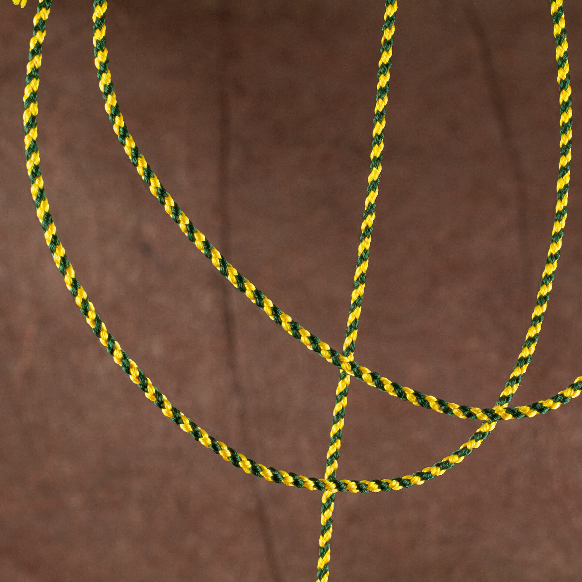 Yellow and green kumihimo braid