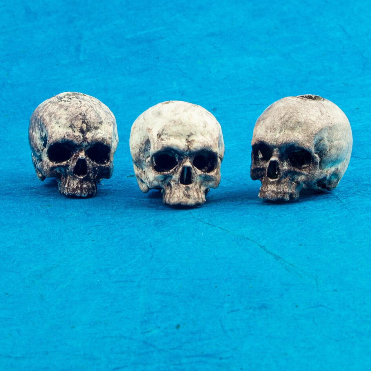 Painted SLA Printed Skull Beads