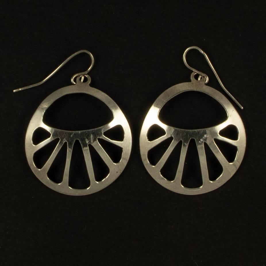 Silver Piercedwork Earrings by H. Clay Sibley