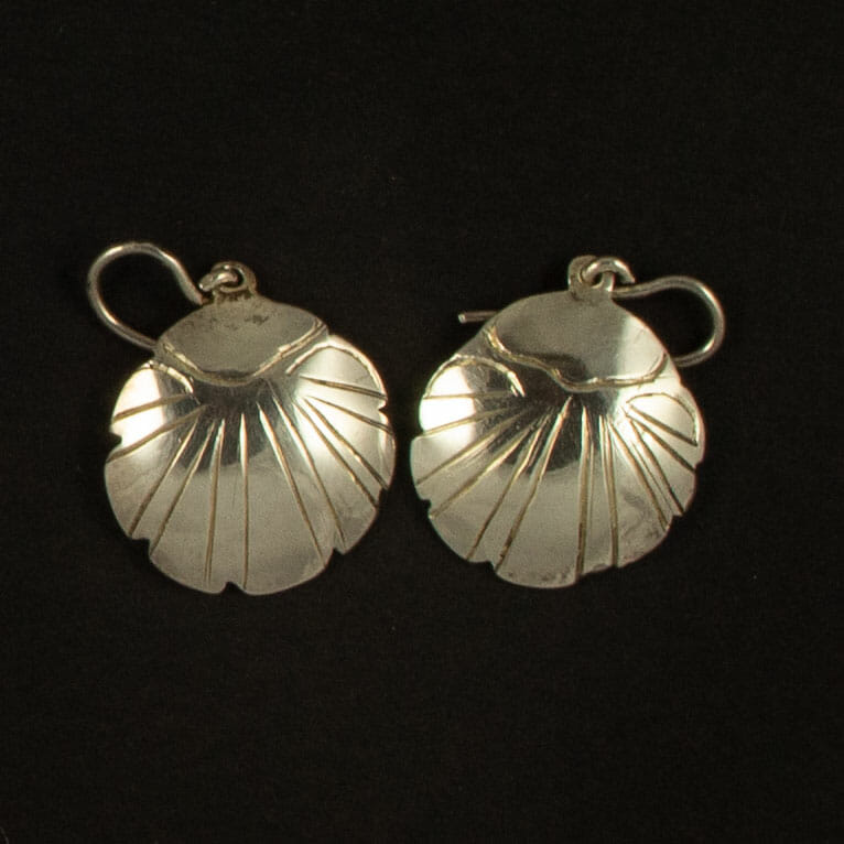Silver Shell Earrings by H. Clay Sibley